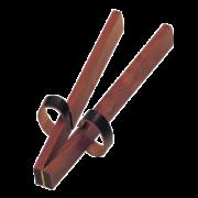 Peitsche (Holzklapper) aus Hartholz